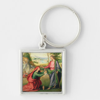 Noli me Tangere, c.1508 (oil on canvas) Silver-Colored Square Key Ring