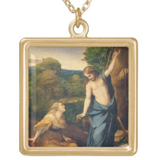Noli Me Tangere, c.1534 (oil on canvas) (for detai Gold Plated Necklace