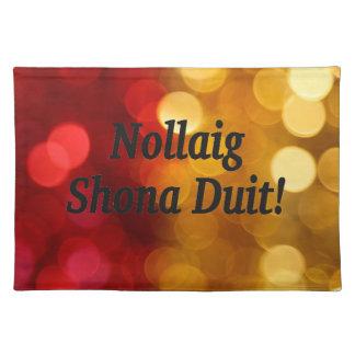 Nollaig Shona Duit! Merry Christmas in Irish bf Cloth Place Mat
