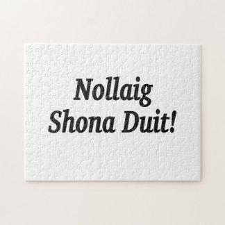 Nollaig Shona Duit! Merry Christmas in Irish bf Jigsaw Puzzles