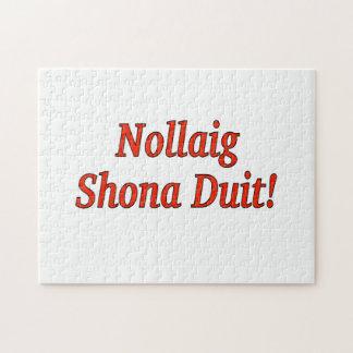 Nollaig Shona Duit! Merry Christmas in Irish rf Jigsaw Puzzle