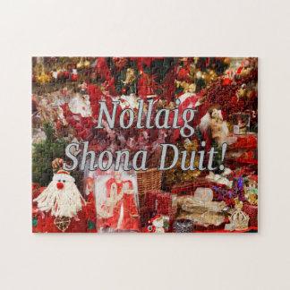 Nollaig Shona Duit! Merry Christmas in Irish wf Jigsaw Puzzle
