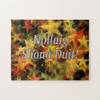 Nollaig Shona Duit! Merry Christmas in Irish wf Jigsaw Puzzles