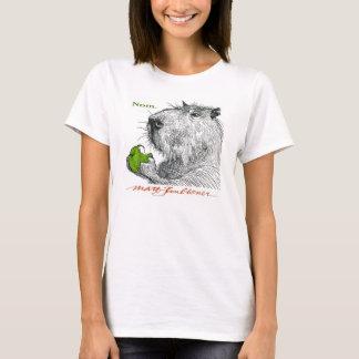 """Nom."" Capybara Woman's Tee"
