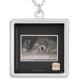 nom force field silver plated necklace