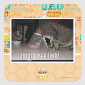 nom force field square sticker