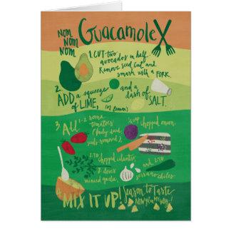 Nom Nom Nom Guacamole Recipe Note Card
