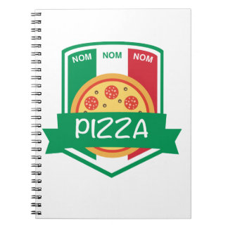 Nom nom Pizza Notebook