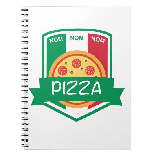 Nom nom Pizza Notebook