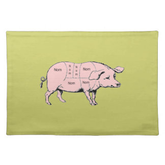 Nom Pig Placemat Cloth Placemat