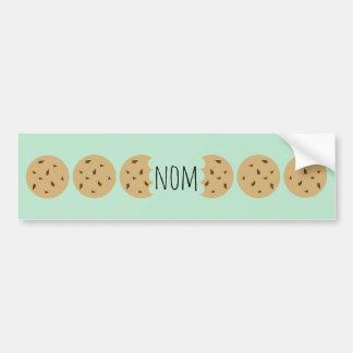 Nom The Choc Chip Cookie Bumper Stickers