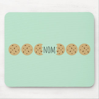 """""""Nom"""" The Choc Chip Cookie Mouse Pad"""