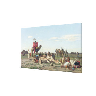 Nomads in the Desert, 1861 Canvas Print
