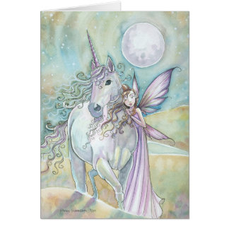 Nomads of the Mystic Dunes Fairy Unicorn Card