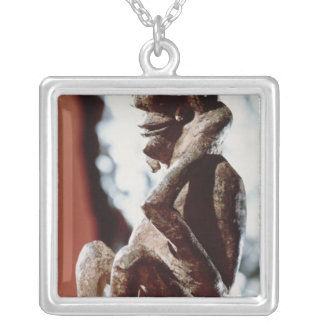 Nomali figure of the Mende tribe Silver Plated Necklace