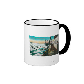 Nome, Alaska Steamer Corwin Unloading Freight Ringer Coffee Mug