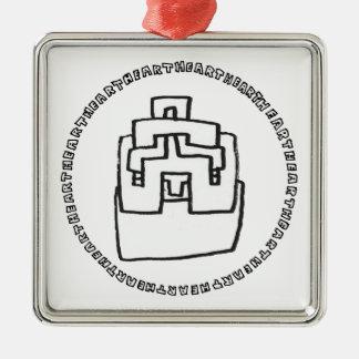 NoMiSo Sensei know point teacher Silver-Colored Square Decoration