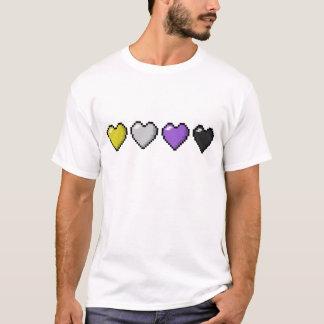 Non-Binary Pixel Hearts T-Shirt