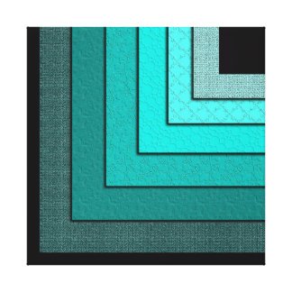 Non-Concentric Squares Canvas Print