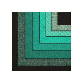 Non-Concentric Squares Wood Art Wood Print