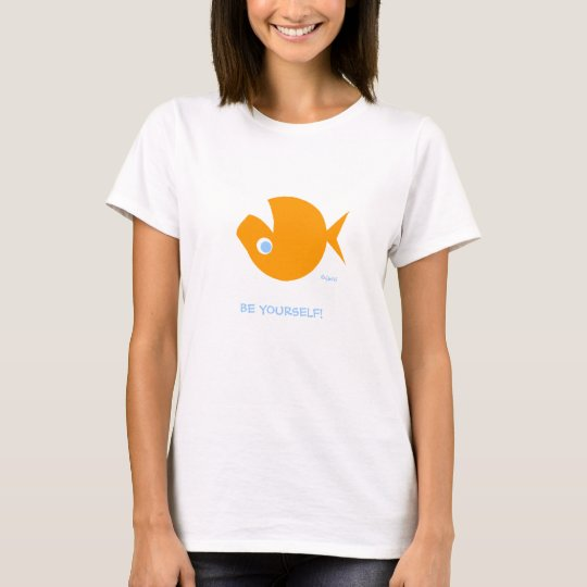 Non-Conformist Cute Funny Ladies' Cartoon T-Shirt