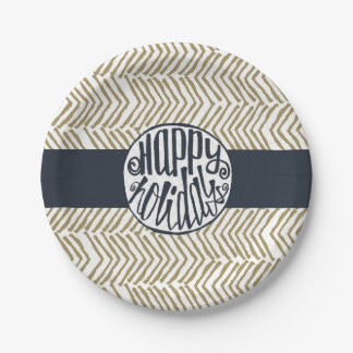 non-denominational Holiday 7 Inch Paper Plate