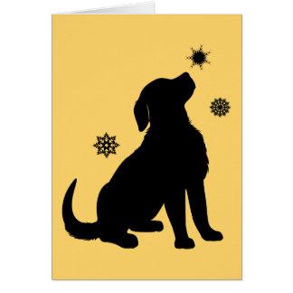 Non-Denominational Holidays Golden Retriever Snow Greeting Card