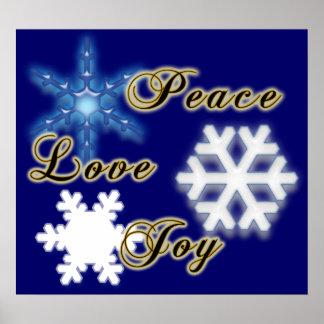 Non-Denominational Peace Love Joy Poster