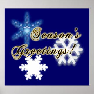 Non-Denominational Season s Greetings Snowflakes Print