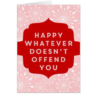 Non-Denominational Secular Greetings! Greeting Card