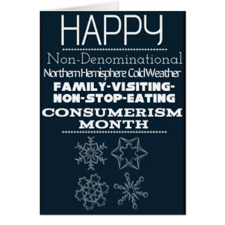 Non-Denominational Winter Greetings 1 Card