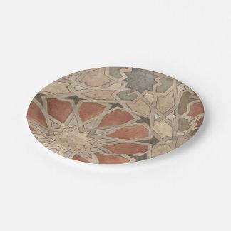 Non-Embellished Marrakesh Design I 7 Inch Paper Plate