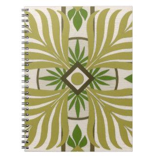 Non-Embellished Palm Motif II Spiral Notebook