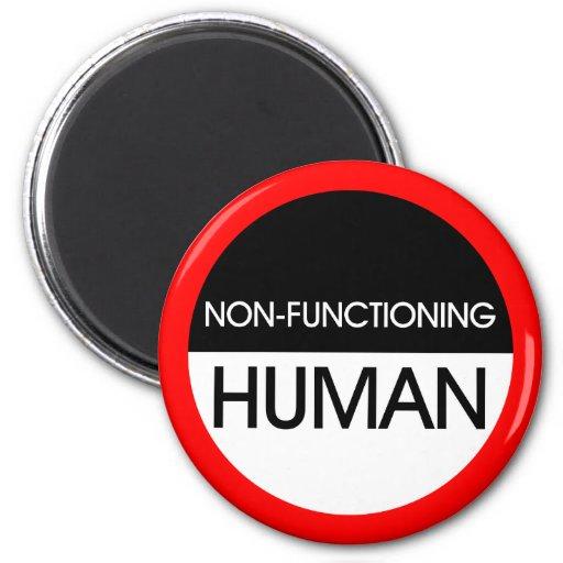 Non-Functioning Human Refrigerator Magnet
