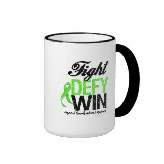 Non-Hodgkin Lymphoma Fight Defy Win Ringer Mug