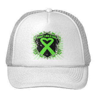 Non Hodgkin Lymphoma Fight Like A Girl Armor Mesh Hats