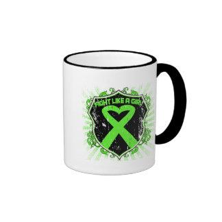 Non Hodgkin Lymphoma Fight Like A Girl Armor Coffee Mugs