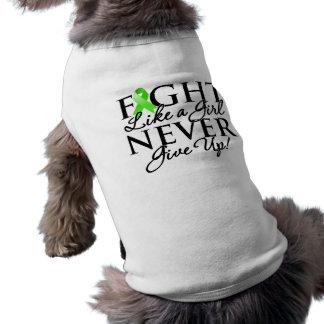 Non-Hodgkin Lymphoma Fight Like a Girl Doggie Tshirt