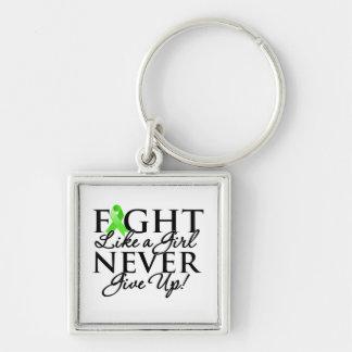 Non-Hodgkin Lymphoma Fight Like a Girl Keychain
