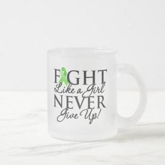 Non-Hodgkin Lymphoma Fight Like a Girl Coffee Mugs