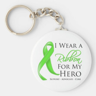 Non-Hodgkin Lymphoma I Wear a Ribbon For My Hero Basic Round Button Key Ring