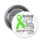 Non-Hodgkin Lymphoma Living Life With Faith 6 Cm Round Badge