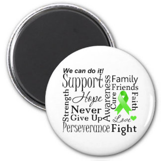 Non-Hodgkin Lymphoma Supportive Words 6 Cm Round Magnet