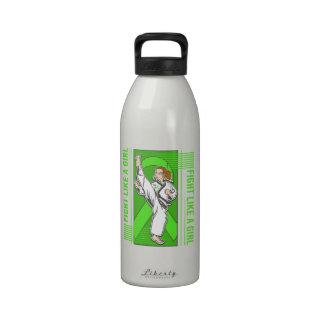 Non-Hodgkin's Lymphoma Fight Like A Girl Kick Reusable Water Bottle