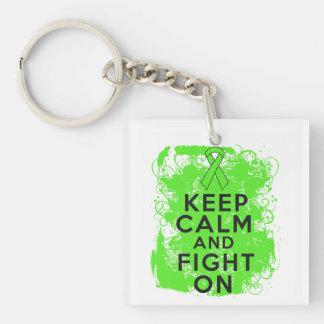 Non-Hodgkin's Lymphoma Keep Calm and Fight On Acrylic Key Chain
