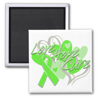 Non-Hodgkin's Lymphoma Love Hope Cure Refrigerator Magnets