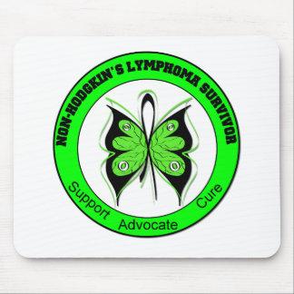 Non-Hodgkin s Lymphoma Survivor Butterfly Mouse Mats