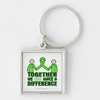 Non-Hodgkin's Lymphoma Together We Will Make A Dif Silver-Colored Square Key Ring