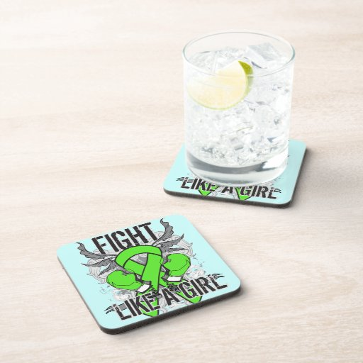 Non-Hodgkin's Lymphoma Ultra Fight Like A Girl Beverage Coasters