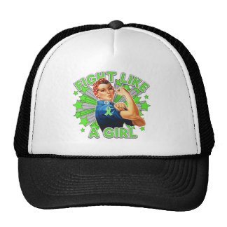 Non-Hodgkin's Lymphoma Vintage Rosie Fight Trucker Hat